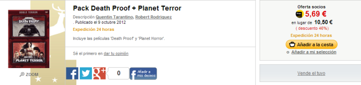 Pack Death Proof   Planet Terror   Fnac.es