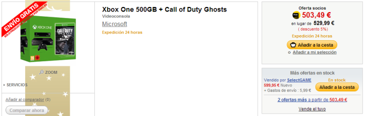 Xbox One 500GB   Call of Duty Ghosts   Videoconsola en Fnac